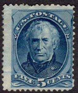 US Stamp #179 5c Blue Taylor MINT Regummed SCV $225