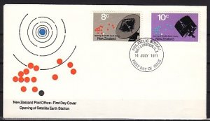 New Zealand, Scott cat. 478-479. Satellite Station issue. First day cover. ^