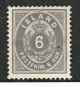 Iceland Rare Facit#11b Unused VF+ FacitCV $300...Powerful bargain!!