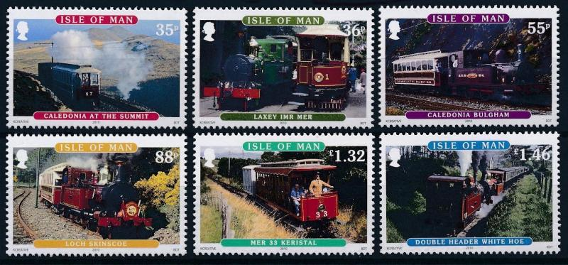 [61375] Isle Of Man 2010 Railway Train Elsenbahn Chemin De Fer  MNH