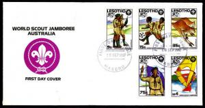 Lesotho – 1987 16th World Scout Jamboree FDC
