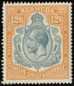 Bermuda #97 King George V; Unused (2Stars)