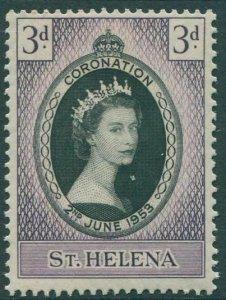St Helena 1953 SG152 3d black and lilac Coronation QEII MNH