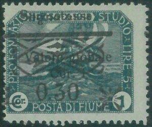 87862a - ITALIA: FIUME  - VARIETA'  Error  - REVENUE Sassone ST 31  Nuovo * MH