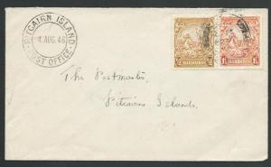 BARBADOS TO PITCAIRN IS 1946 cover with arrival cds - most unusual.........13397