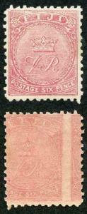 Fiji SG57a 1878-99 6d dull rose Perf 11 ERROR PRINTED BOTH SIDES SUPERB M/M