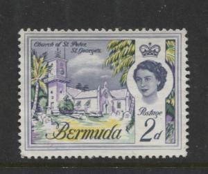 Bermuda - Scott 176 - QEII - Definitive -1962 - VFU - Single 2d Stamp