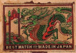JAPAN Old Matchbox Label Stamp(glued on paper) Collection Lot #B-9
