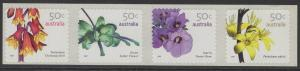 AUSTRALIA SG2763/6 2007 WILDFLOWERS SELF ADHESIVES MNH