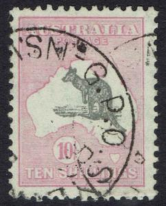 AUSTRALIA 1931 KANGAROO 10/- C OF A WATERMARK USED