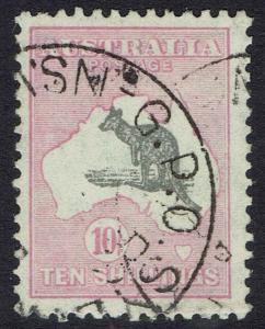 AUSTRALIA 1931 KANGAROO 10/- C OF A WATERMARK USED