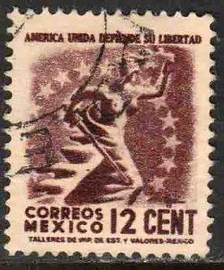 MEXICO 845 12¢ 1934 Definitive Wmk Gobierno...279 Used. F-VF (927)