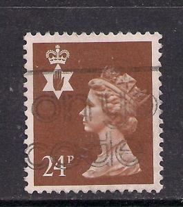 Northern Ireland GB 1991 QE2 24p Chestnut Machin SG NI 58 ( C837 )