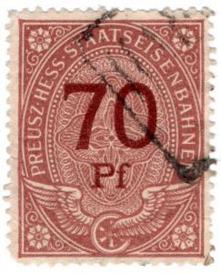 (I.B) Germany Railway : Preusz-Hess Staatseisenbahnen 70pf