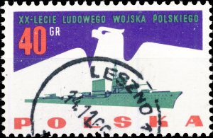 POLAND / POLEN - 1963 Mi.1426 40gr 20yrs People's Army - VF Used (b)