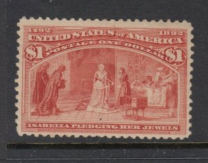 #341 $1 Columbus - PSE CERTIFIED- (Regummed) cv$525 as no gum
