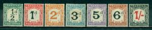 Transvaal #J1-J7  Mint  Scott $45.00