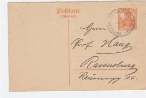Germany Pischbach 1917 to Ravenburg postal stationary stamps card R21319