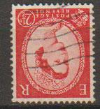 Great Britain SG 544bwi  Used Type II watermark inverted from booklet