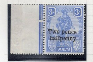 Malta 1925 Early Issue Fine Mint Hinged 2.5d. Surcharged 321586