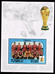 UK STAMP TUVALU 1986 MEXICO WORLD CUP MNH S/S  #2