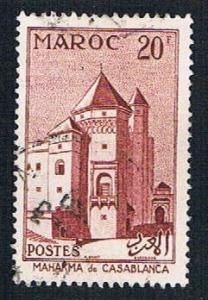 French Morocco 322 Used Court house (BP1402)