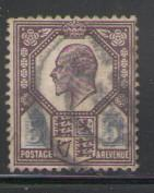 Great Britain Sc 134 1902 5 d Edward VII stamp used