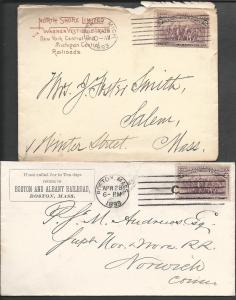 Scott #231, Two envs., 1893