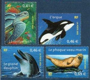 2002 France 3622-3625 Sea fauna