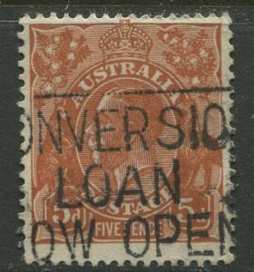 Australia - Scott 120 - KGV Head -1932 - Used - Wmk- 228 - 5p Stamp