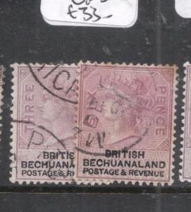 Bechuanaland SG 12-12a VFU (5dlc)