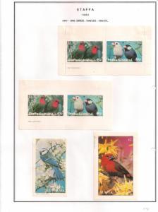 SCOTLAND - STAFFA - 1982 - Birds #20 - Perf, Imp 2v, Souv, D/L Sheets - MLH
