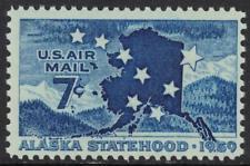 SCOTT # C53 PLATE BLOCK AND SINGLE GEM COMBO MNH ALASKA STATEHOOD AIR MAIL