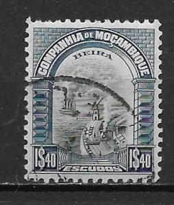 Mozambique Company 158 1.40e View of Beira single Used