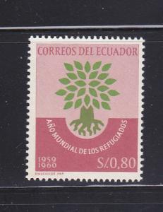 Ecuador 656 Set MNH World Refugee Year (D)