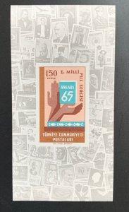 Turkey 1965 Stamp Exhibition MS, MNH. Scott 1674, CV $2.50.  Isfila BL 12