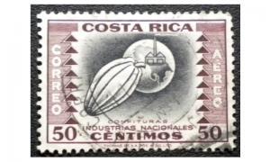 COSTA RICA AIRMAIL STAMP 1954. SCOTT # C236. USED