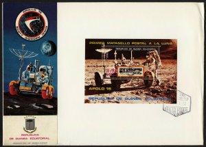 C44 Equatorial Guinea Oversized FDC 1972 Apollo 15 Souvenir Sheet Space
