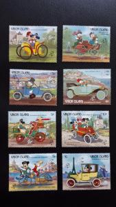 Disney - Union Island (St. Vincent Grenadines) 1989. - Cars ** MNH complete set