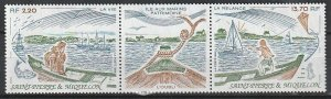 1989 St. Pierre and Miquelon - Sc 519a - MNH VF - 1 pr - Marins Heritage