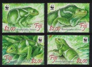 Fiji WWF Crested Iguana Brachylophus vilensis 4v SG#1442