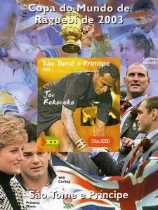 Sao Tome & Principe 2004 Rugby Joe Rokocoko Deluxe s/s mnh.vf