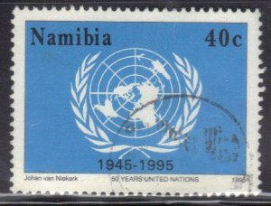 NAMIBIA SC# 792 **USED**  40c  1995  UNITED NATIONS    SEE SCAN