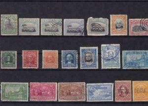costa rica vintage stamps ref r13929