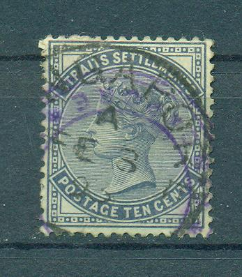 Straits Settlements sc# 51 used cat value $1.50