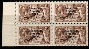 IRELAND SG64 1922 2/6 CHOCOLATE-BROWN MNH BLOCK OF 4