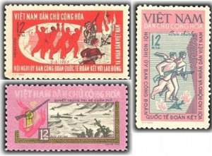 Vietnam 1965 MNH Stamps Scott 347-349 War Naval Battle Airplane Ships Trade Unio