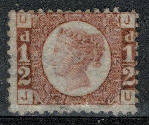 G.B. QV 1870-79 1/2d ROSE-RED BATAM PLATE 6 (J-U) UNUSED (MH) SG48 P.14 FINE