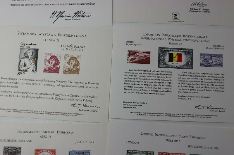 WW International Philatelic Expo club Souvenir card lot ISRAPHIL APEX LONDON