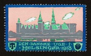 REKLAMEMARKE POSTER STAMP DANSKE UGE I HELSINGØR 1913 MNH-OG